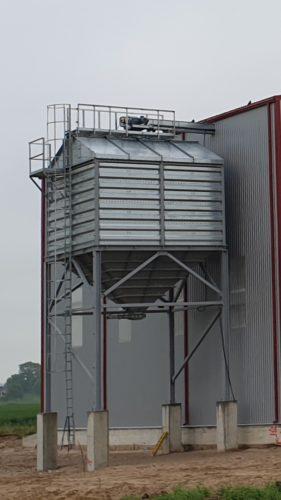 Tvertne graudu atkraušanai VET-75